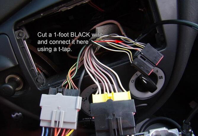 Ford Focus SVT Aftermarket Radio Wiring Connection (4)