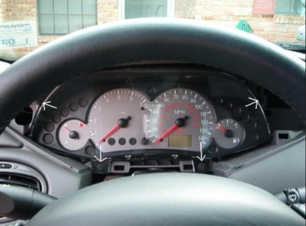 How to Remove Ford Focus Instrument Cluster (4)