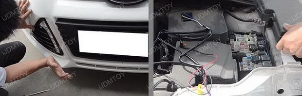 Installa Ford Focus LED Daytime Running Lights By Yourself (3)