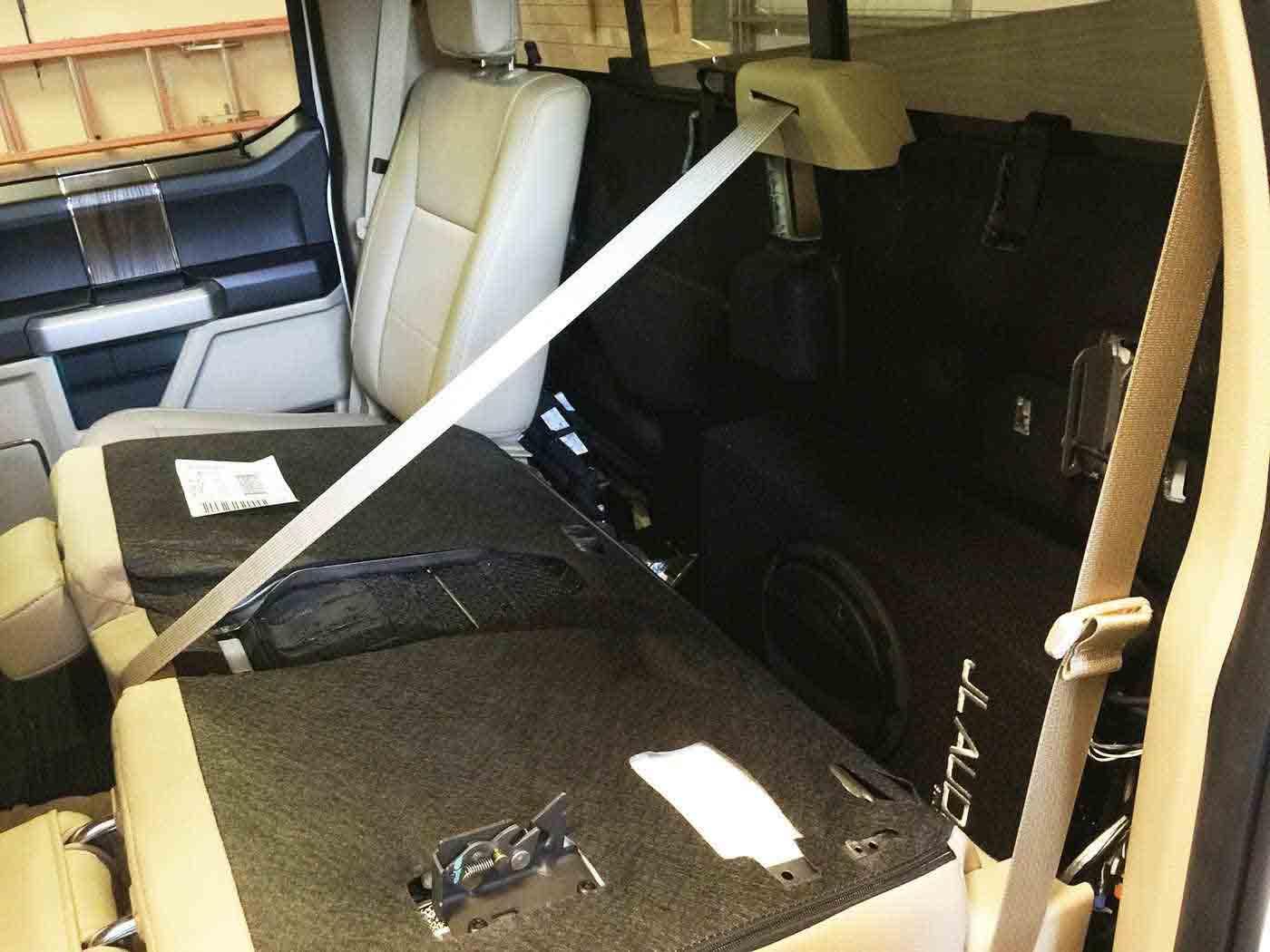 Ford F150 2015 Subwoofer Amplifier Retrofits (8)
