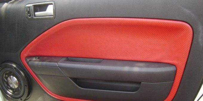 How to Solve Ford Mustang Door Panel Leather Sagging (10)