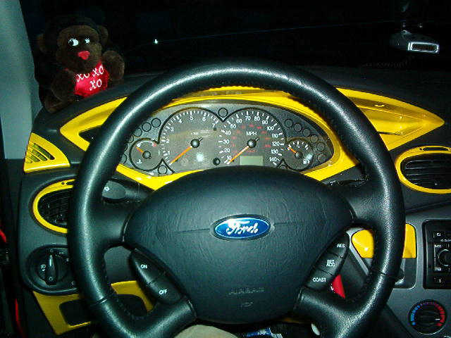 Ford Focus Dashboard Interior Paint DIY Work (1)