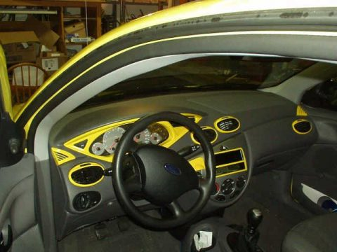 Ford Focus Dashboard Interior Paint DIY Work (8)